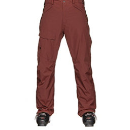 The North Face Freedom Insulated Mens Ski Pants, Hot Chocolate Brown, 256