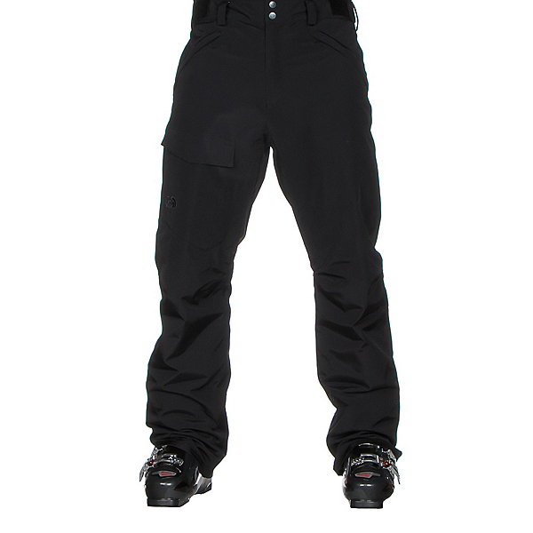 The North Face Freedom Insulated Short Mens Ski Pants, TNF Black, 600