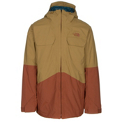 The North Face Brogoda Mens Insulated Ski Jacket, Bronze Mist-Gingerbread Brown, medium