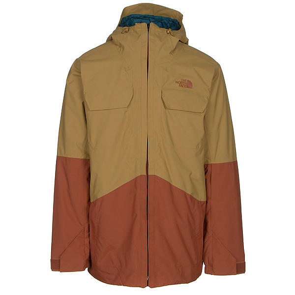 The North Face Brogoda Mens Insulated Ski Jacket (Previous Season), Bronze Mist-Gingerbread Brown, 600