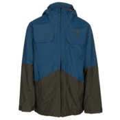 The North Face Brogoda Mens Insulated Ski Jacket, Prussian Blue-Rosin Green, medium