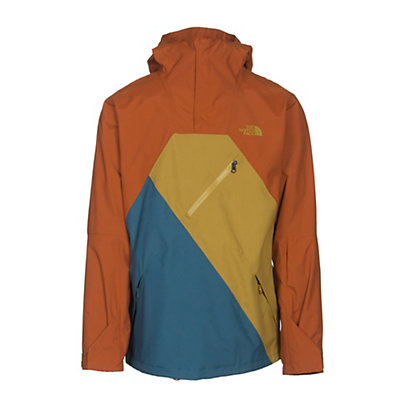The North Face Dubs Mens Shell Ski Jacket, Gingerbread Brown-Prussian Blu, viewer