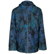The North Face Tight Ship Mens Shell Ski Jacket, Shady Blue Nightlights Print, medium