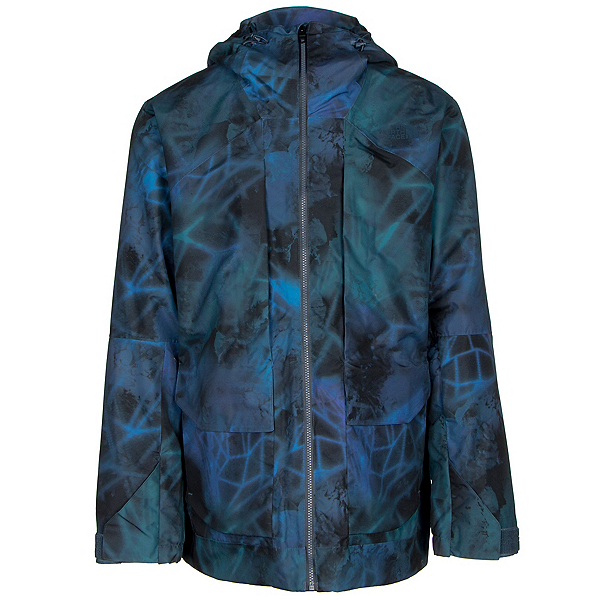 The North Face Tight Ship Mens Shell Ski Jacket, Shady Blue Nightlights Print, 600