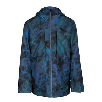 The North Face Tight Ship Mens Shell Ski Jacket, Prussian Blue Digital Haze Pri, viewer