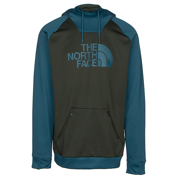 The North Face Brolapse Mens Hoodie, Rosin Green-Prussian Blue, 600