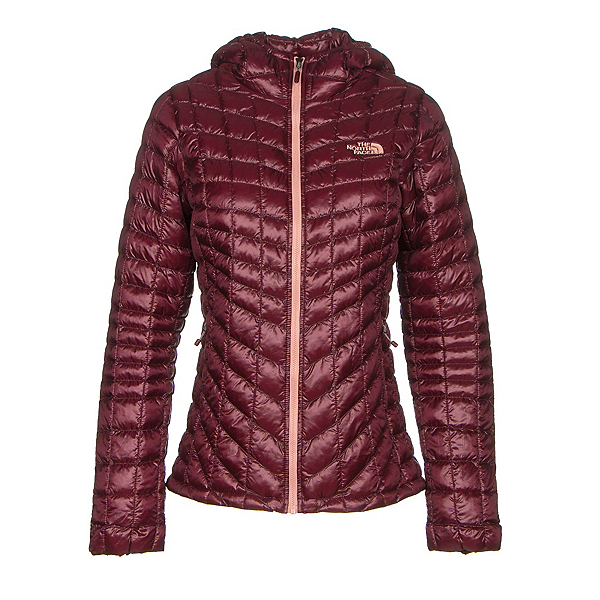 The North Face ThermoBall Hoodie Womens Jacket, Deep Garnet Red, 600