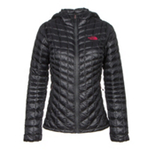 The North Face ThermoBall Hoodie Womens Jacket, Asphalt Grey-Cerise Pink, medium