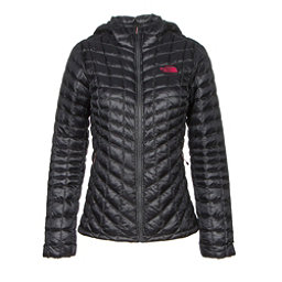 The North Face ThermoBall Hoodie Womens Jacket, Asphalt Grey-Cerise Pink, 256