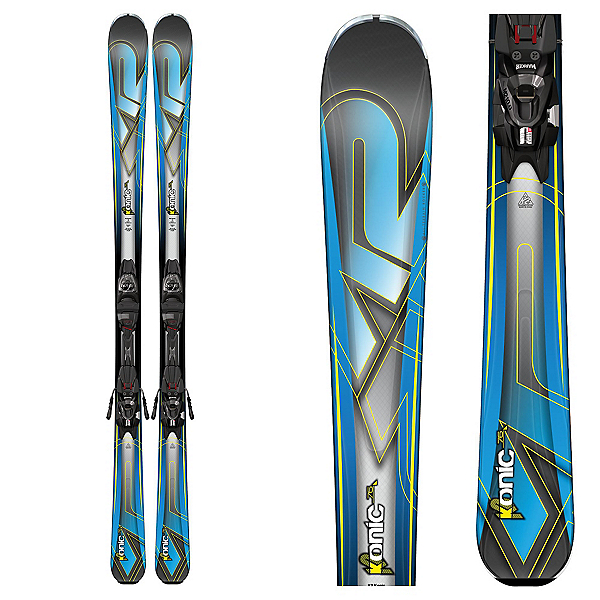 K2 Konic 76 Skis with Marker M2 10 Bindings 2017, , 600