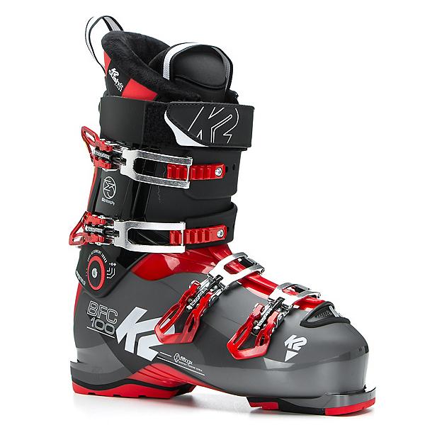 K2 B.F.C. 100 Ski Boots 2018, Black-Red, 600