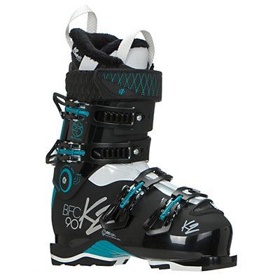 K2 B.F.C. 90W Womens Ski Boots 2017, Black-Teal, viewer