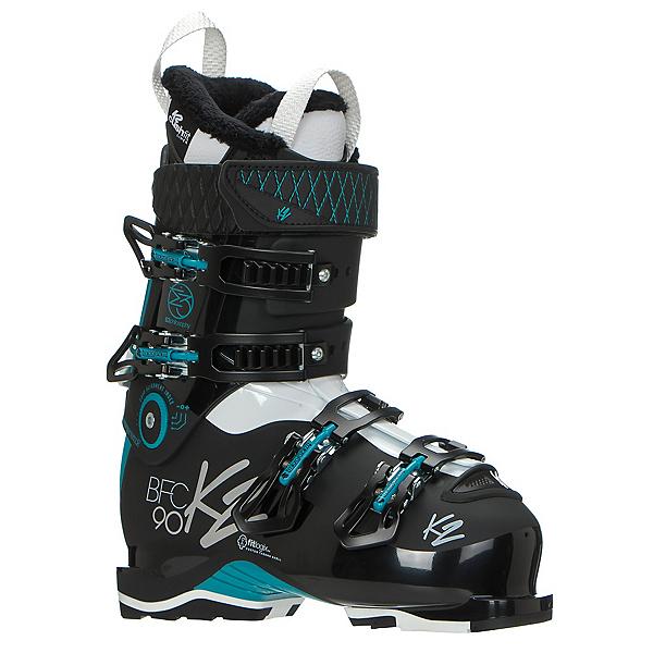 K2 B.F.C. 90W Womens Ski Boots 2017, Black-Teal, 600