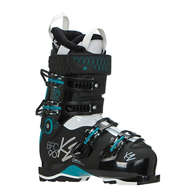 K2 B.F.C. 90W Womens Ski Boots 2017, Black-Teal, viewer