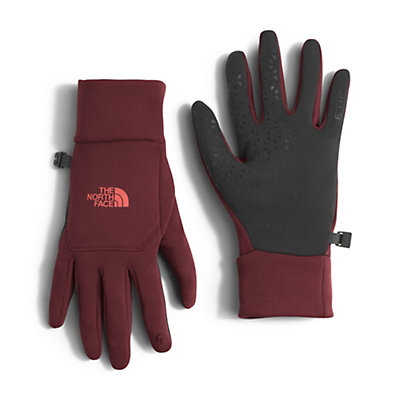 The North Face Etip Womens Gloves, Deep Garnet Red, viewer