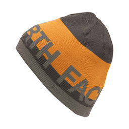 The North Face Reversible TNF Banner Beanie, Asphalt Grey-Citrine Yellow, 256