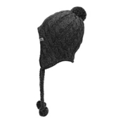 The North Face Womens Fuzzy Earflap Beanie, TNF Black-TNF Black, medium