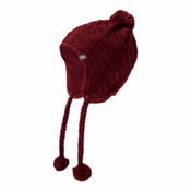 The North Face Womens Fuzzy Earflap Beanie, Barolo Red, medium