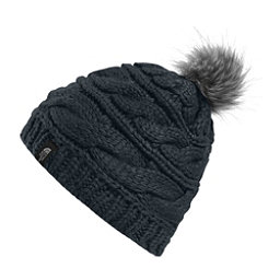 The North Face Triple Cable Fur Pom Beanie, Asphalt Grey, 256