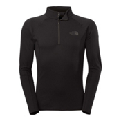 The North Face Warm L/S Zip Neck Mens Long Underwear Top, TNF Black, medium
