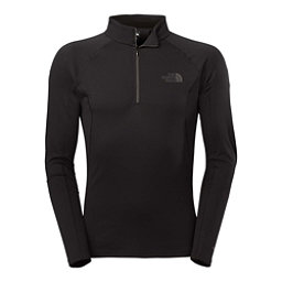 The North Face Warm L/S Zip Neck Mens Long Underwear Top, TNF Black, 256