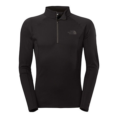 The North Face Warm L/S Zip Neck Mens Long Underwear Top, TNF Black, viewer