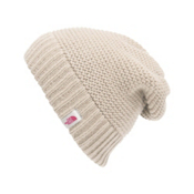 The North Face Womens Purrl Stitch Beanie, Vintage White, medium