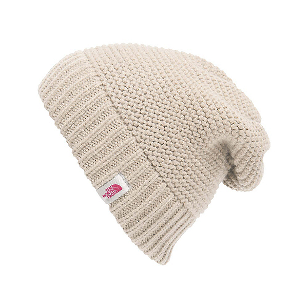 The North Face Womens Purrl Stitch Beanie, Vintage White, 600