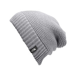 The North Face Womens Purrl Stitch Beanie, TNF Light Grey Heather, 256