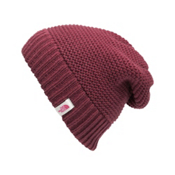 The North Face Womens Purrl Stitch Beanie, Deep Garnet Red, medium