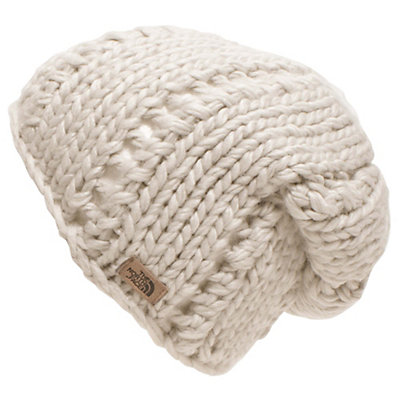 The North Face Womens Chunky Knit Beanie, Vintage White, viewer