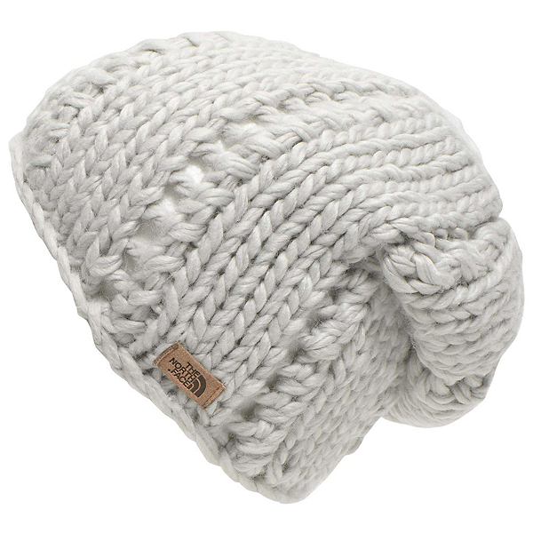 The North Face Womens Chunky Knit Beanie, Lunar Ice Grey, 600