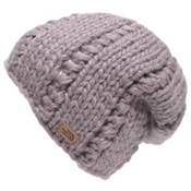 The North Face Womens Chunky Knit Beanie, Quail Grey, medium