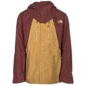 The North Face NFZ Mens Shell Ski Jacket, Bronze Mist-Hot Chocolate Brow, medium
