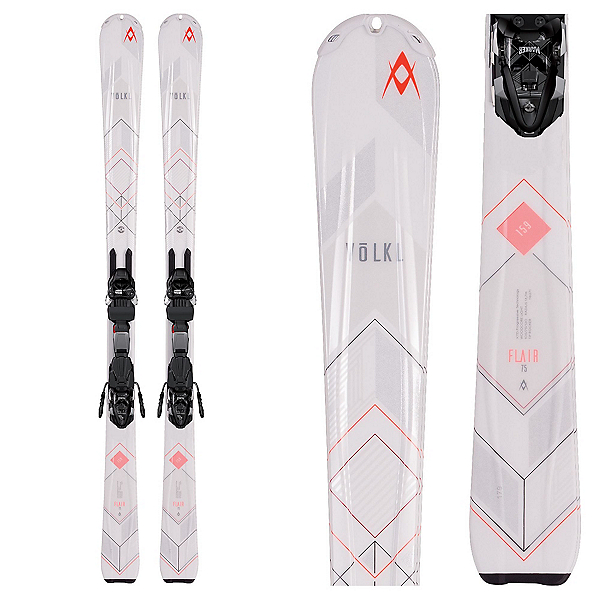 Volkl Flair 75 Womens Skis with 4Motion 10.0 Bindings 2017, , 600