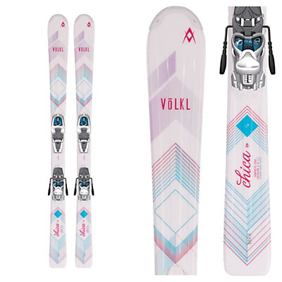 Volkl Chica Jr. Kids Skis with 3Motion 7.0 Bindings 2017, , viewer