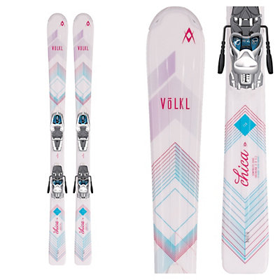 Volkl Chica Jr. Kids Skis with 3Motion 4.5 Bindings 2017, , viewer