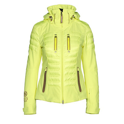 Bogner Nica Down Womens Insulated Ski Jacket, Glowing Green, viewer