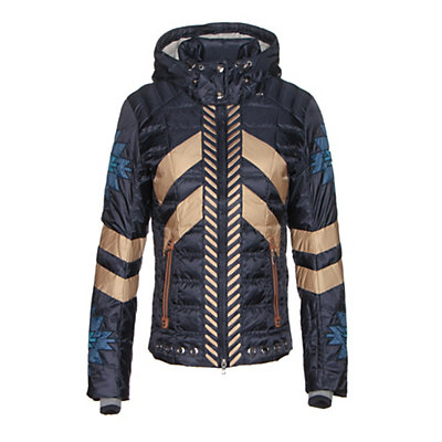 Bogner Elia Down Womens Insulated Ski Jacket, Navy, viewer