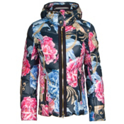 Bogner Cosma Down Womens Insulated Ski Jacket, Navy Floral, medium