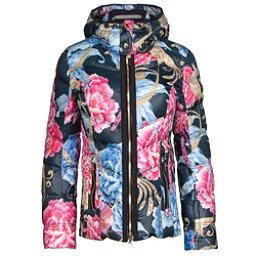 Bogner Cosma Down Womens Insulated Ski Jacket, Navy Floral, 256