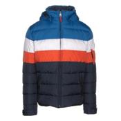 Bogner Fire + Ice Lars2 D Mens Insulated Ski Jacket, Blue-White-Red, medium