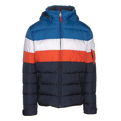 Bogner Fire + Ice Lars2 D Mens Insulated Ski Jacket, Blue-White-Red, viewer