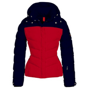 Bogner Fire + Ice Sally2 Down Womens Insulated Ski Jacket, Navy-Red, medium