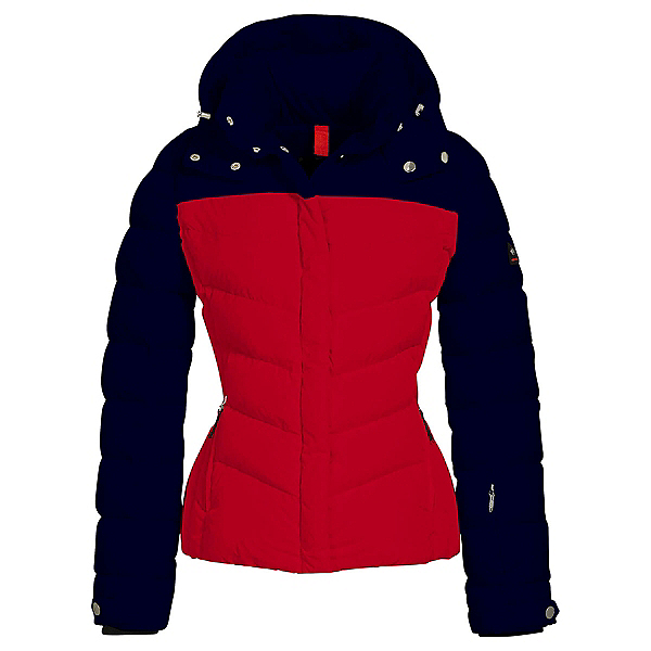 Bogner Fire + Ice Sally2 Down Womens Insulated Ski Jacket, Navy-Red, 600
