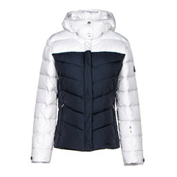Bogner Fire + Ice Sally2 Down Womens Insulated Ski Jacket, White-Navy, 256