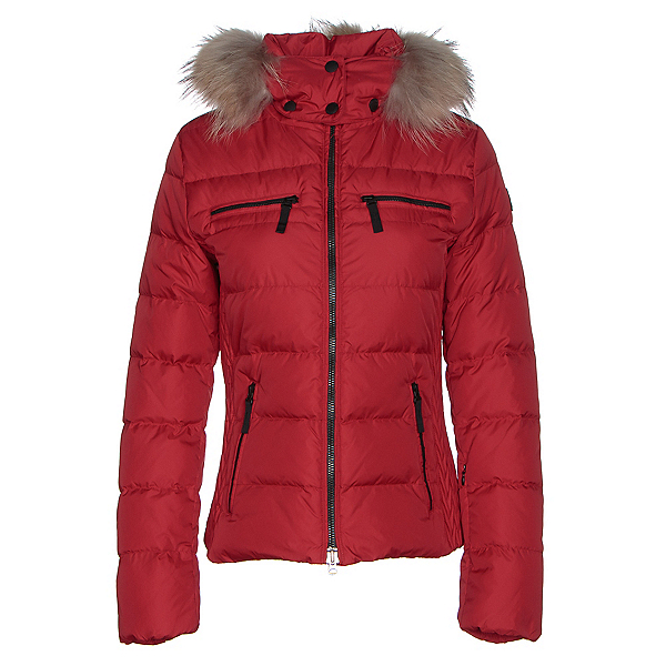 Bogner Fire + Ice Lela Down Womens Insulated Ski Jacket, Signal Red, 600