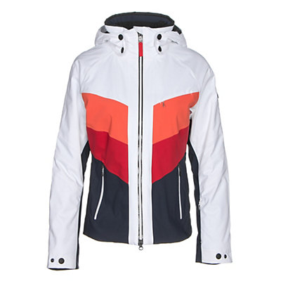 Bogner Fire + Ice Sierra Womens Insulated Ski Jacket, White-Navy, viewer