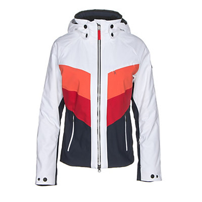 Bogner Fire + Ice Sierra Womens Insulated Ski Jacket, White-Navy, viewer