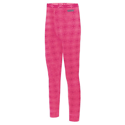 Terramar Thermolator Girls Long Underwear Bottom, Pink Mountain Print, viewer